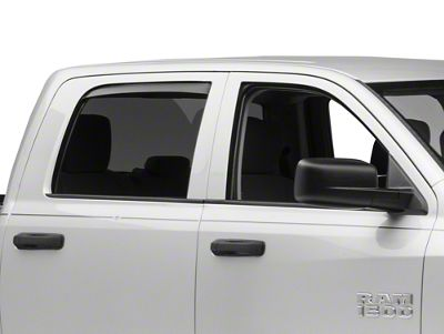 2019-2020 In-Channel Vent Visors Dodge Ram 1500 Crew Cab BLACK MATTE