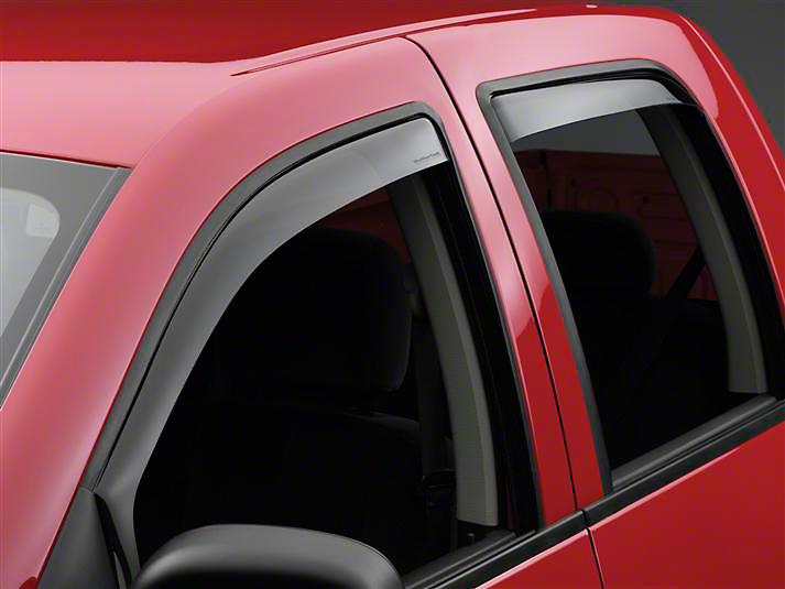 Weathertech Rear Side Window Deflectors - Light Smoke (02-08 RAM 1500 Quad Cab, Mega Cab)