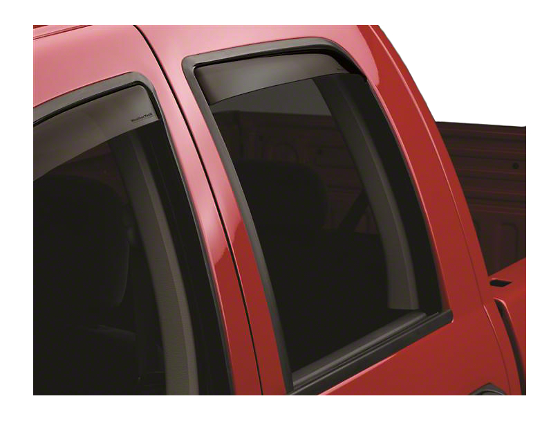 Weathertech Rear Side Window Deflectors - Dark Smoke (02-08 RAM 1500 Quad Cab, Mega Cab)