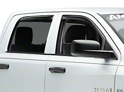 Weathertech Front & Rear Side Window Deflectors - Dark Smoke (09-18 Crew Cab)