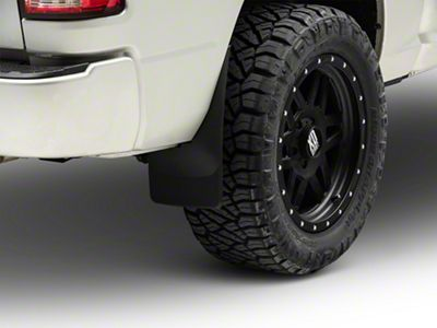 Weathertech No Drill Rear Mud Flaps - Black (09-18 w/o Fender Flares)