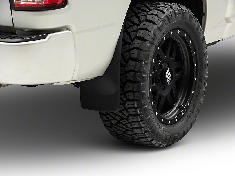 Weathertech No Drill Rear MudFlaps - Black (09-18 RAM 1500)