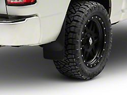Weathertech No-Drill Mud Flaps; Rear; Black (09-18 w/o Fender Flares)