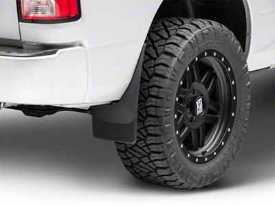 Weathertech No Drill Front & Rear Mud Flaps - Black (09-18 w/o Fender Flares)
