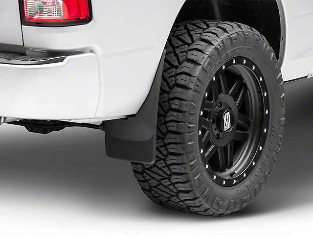 Weathertech No-Drill Mud Flaps; Front and Rear; Black (09-18 RAM 1500)
