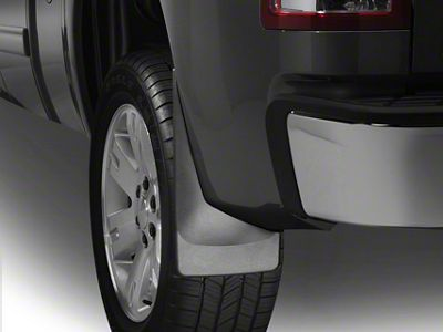 Weathertech No Drill Rear Mud Flaps - Black (06-08 RAM 1500 w/o Fender Flares)
