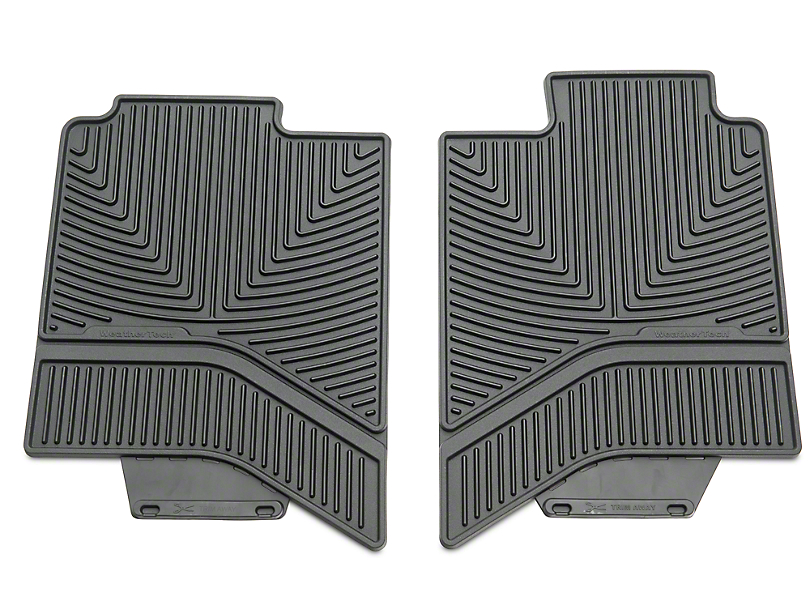 Weathertech All Weather Rear Floor Mats - Black (02-18 RAM 1500 Quad Cab, Crew Cab)