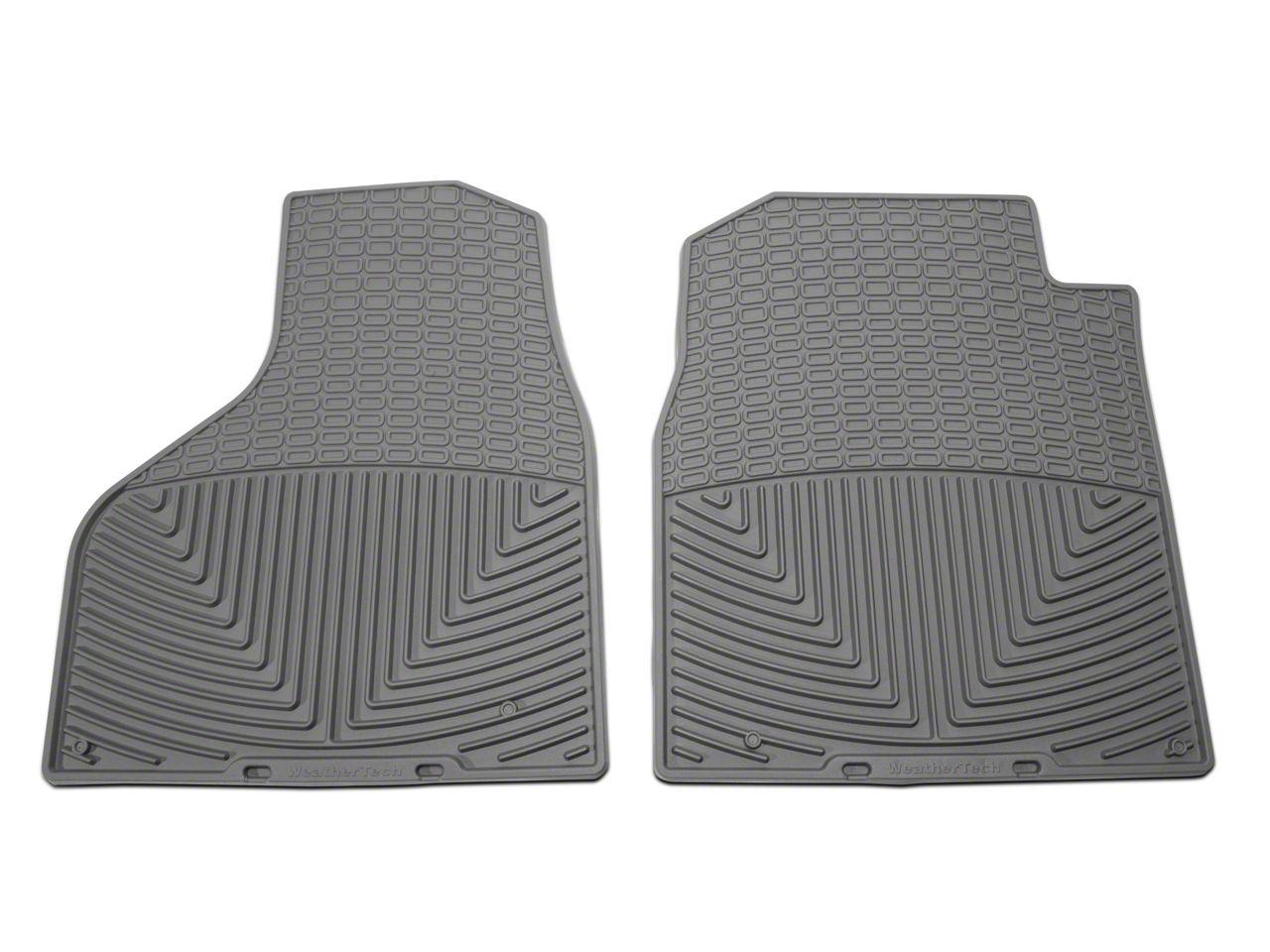 Weathertech All Weather Front Floor Mats - Gray (2012 w/ Driver & Passenger Side Floor Hooks; 13-18 All)