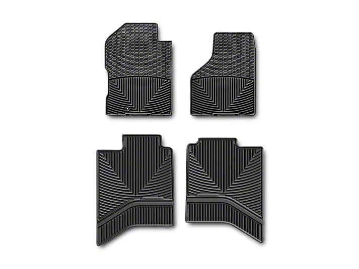 Weathertech All Weather Front & Rear Floor Mats - Black (2012 Quad Cab, Crew Cab w/ Driver & Passenger Side Floor Hooks; 13-18 Quad Cab, Crew Cab)