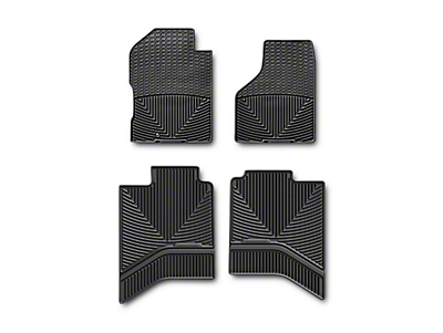 Weathertech All Weather Front & Rear Floor Mats - Black (02-18 RAM 1500 Quad Cab, Crew Cab)