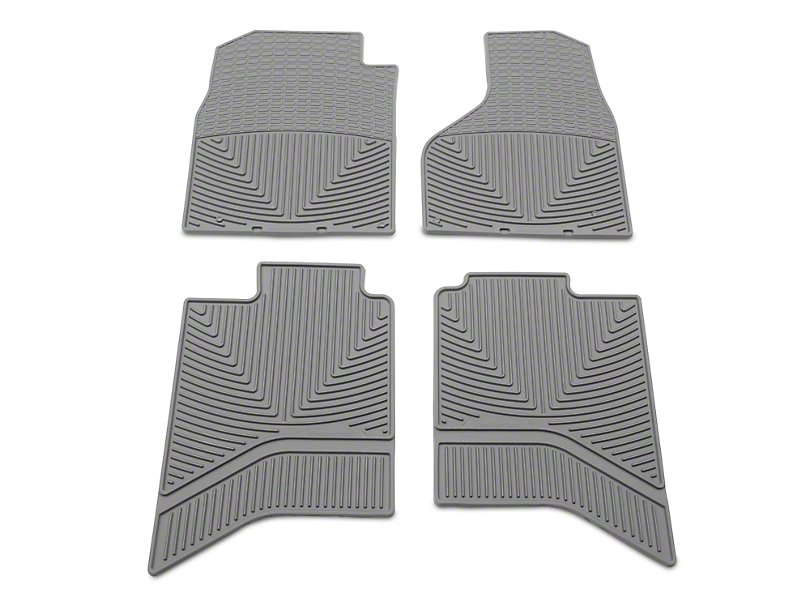 Weathertech All Weather Front & Rear Floor Mats - Gray (02-18 RAM 1500 Quad Cab, Crew Cab)