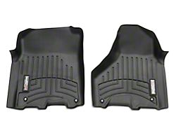 Weathertech DigitalFit Front and Rear Floor Liners; Black (2012 Crew Cab w/ Driver & Passenger Side Floor Hooks; 13-18 Crew Cab)