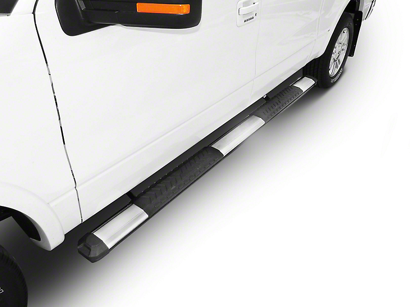Steel Craft STX400 Aluminum Step Boards - Polished Stainless (02-08 RAM 1500 Quad Cab)