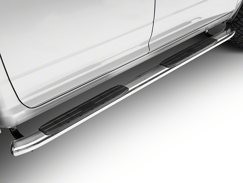 Steel Craft 4X Series 4 in. Oval Side Step Bars - All Stainless Steel (09-18 RAM 1500 Quad Cab, Crew Cab)