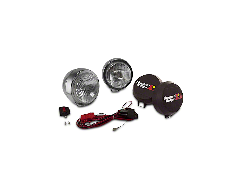 Rugged Ridge 5 Inch Round HID Off-Road Fog Lights; Pair