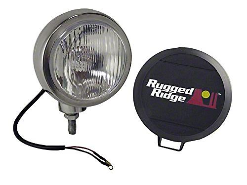 Rugged Ridge 5 in. Round HID Off-Road Fog Light - Single