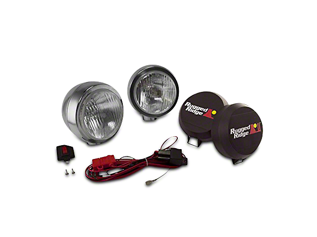 Rugged Ridge 6 in. Round HID Off-Road Fog Lights - Pair