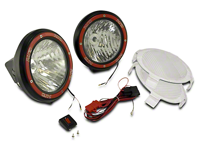 Rugged Ridge 5 in. Round HID Off-Road Fog Lights w/ Black Composite Housings - Pair