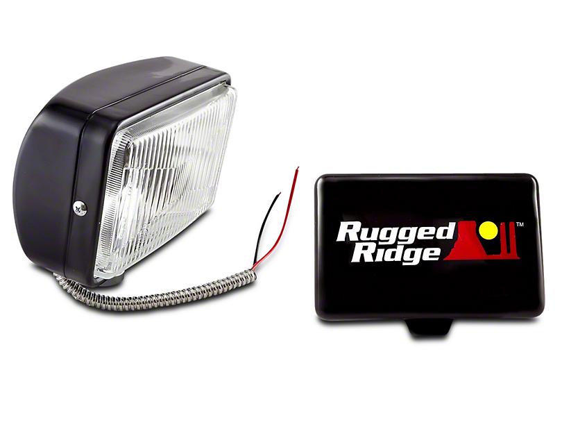 Rugged Ridge 5x7 in. Halogen Fog Light - Single