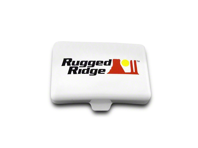 Rugged Ridge 5x7 in. Off-Road Light Cover - White