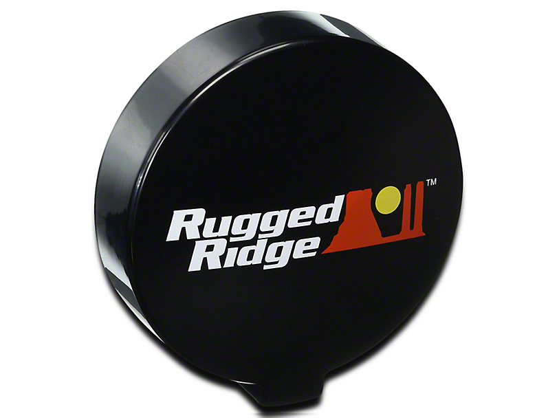 Rugged Ridge 6 in. Slim Off-Road Light Cover - Black