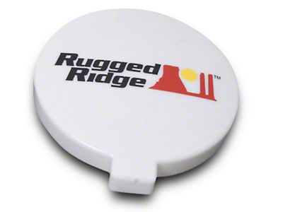 Rugged Ridge 6 in. Slim Off-Road Light Cover - White