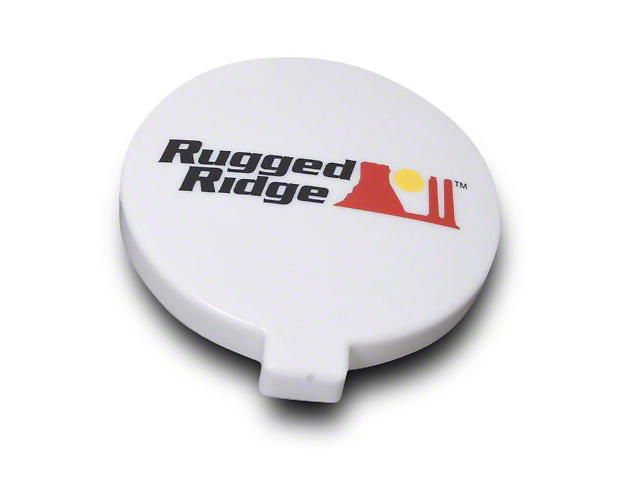 Rugged Ridge 6 in. HID Off-Road Light Cover - White