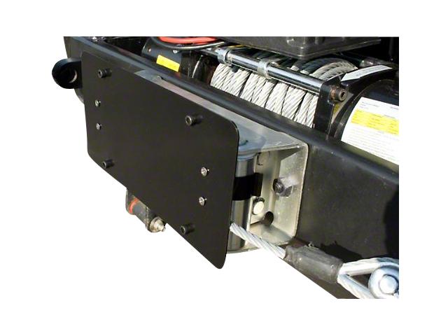 Rugged Ridge Roller Fairlead License Plate Mounting Bracket