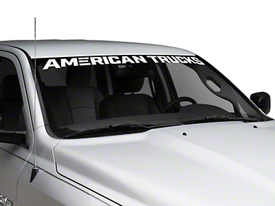 AmericanTrucks Windshield Banner - White (02-19 RAM 1500)