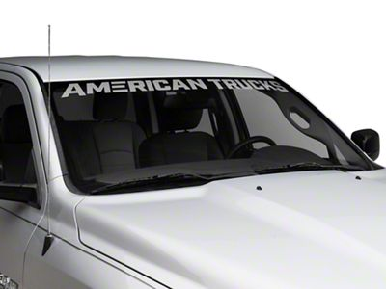 AmericanTrucks Windshield Banner - Frosted (02-19 RAM 1500)