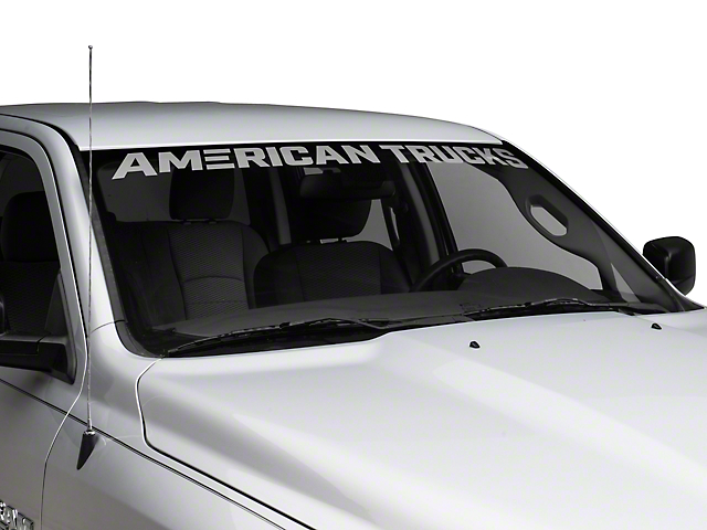 AmericanTrucks Windshield Banner - Frosted (02-20 RAM 1500)