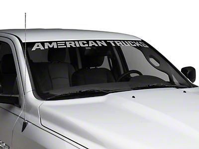 AmericanTrucks Windshield Banner - Frosted (02-19 RAM 1500)