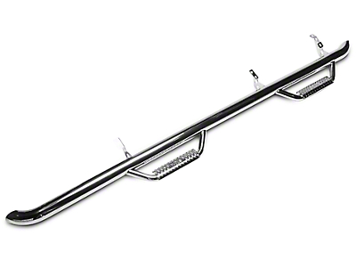 N-Fab Cab Length Nerf Side Step Bars - Polished Stainless (06-08 RAM 1500 Mega Cab)