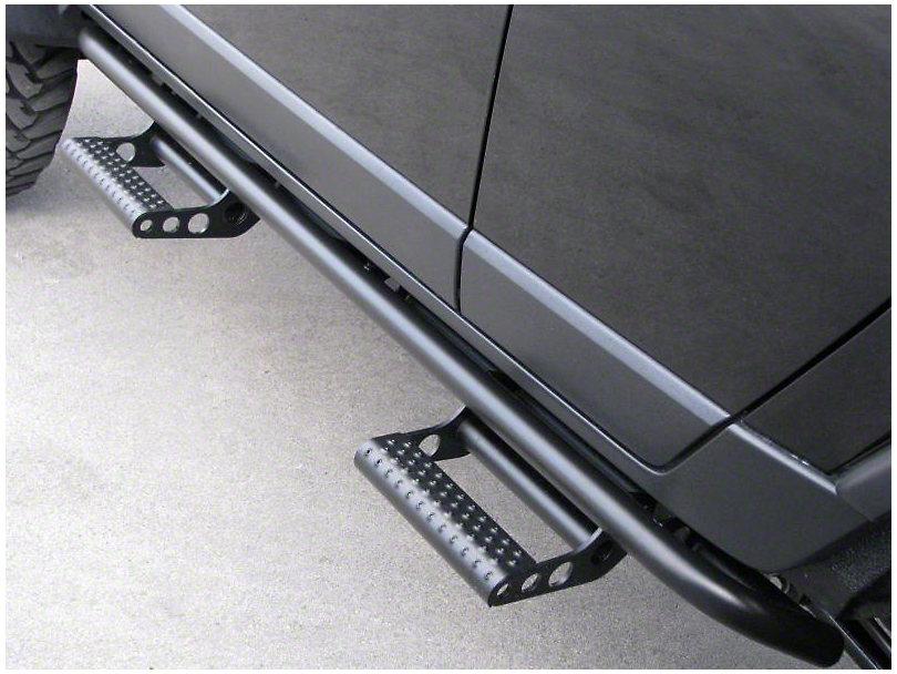 N-Fab Cab Length RKR Side Rails - Textured Black (09-18 RAM 1500 Crew Cab)