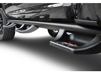 N-Fab Wheel 2 Wheel N-Durastep Bed Access Side Step Bars - Semi-Gloss Black (02-08 RAM 1500 Quad Cab, Mega Cab)