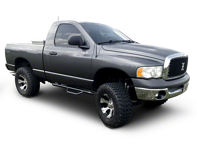 N-Fab Cab Length Nerf Side Step Bars - Gloss Black (02-08 RAM 1500)