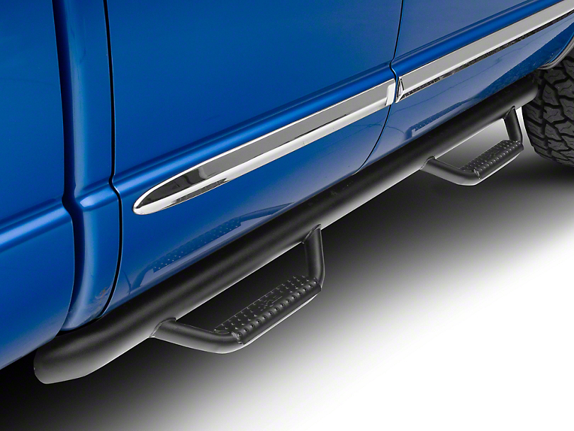 N-Fab Cab Length Nerf Side Step Bars - Textured Black (02-08 RAM 1500)