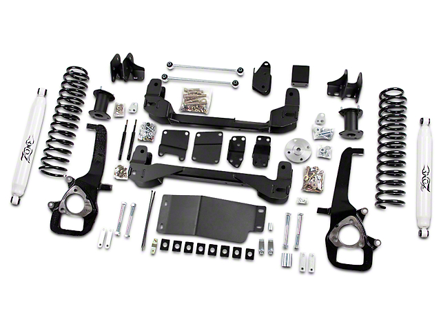 Zone Offroad 4-Inch Suspension Lift Kit with Shocks (09-12 4WD RAM 1500)