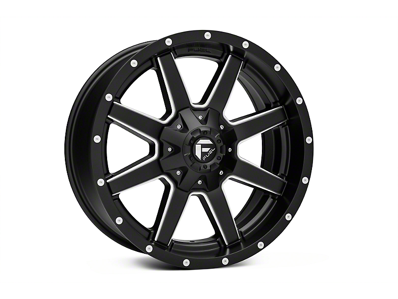 Fuel Wheels Maverick Black Milled 5-Lug Wheel - 22x10 (02-18 RAM 1500, Excluding Mega Cab)