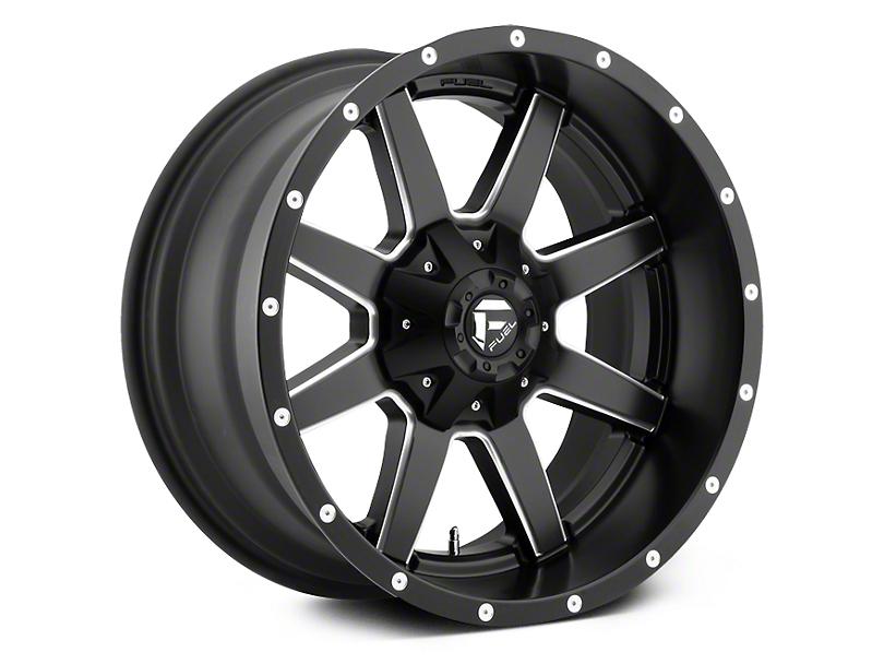 Fuel Wheels Maverick Black Milled 5-Lug Wheel - 22x9.5 (02-18 RAM 1500, Excluding Mega Cab)