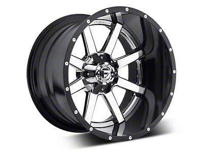 Fuel Wheels Maverick Chrome w/ Gloss Black Lip 5-Lug Wheel - 22x10 (02-18 RAM 1500, Excluding Mega Cab)