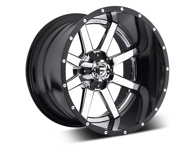 Fuel Wheels Maverick Chrome w/ Gloss Black Lip 5-Lug Wheel - 22x12 (02-18 RAM 1500, Excluding Mega Cab)