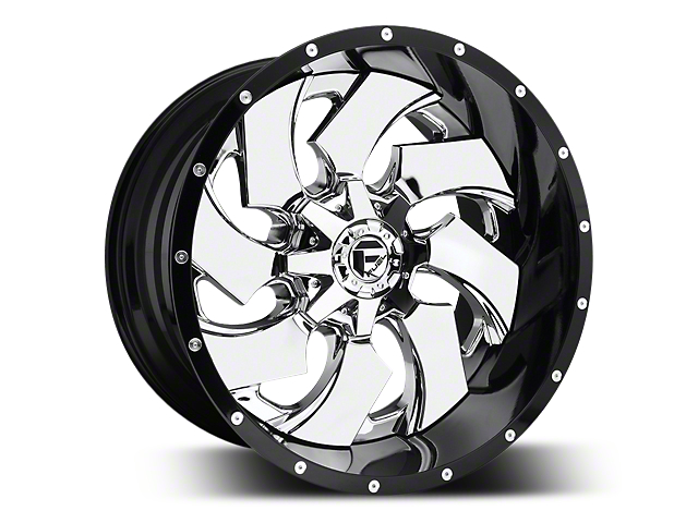 Fuel Wheels Cleaver Chrome w/ Gloss Black Lip 5-Lug Wheel - 22x10 (02-18 RAM 1500, Excluding Mega Cab)