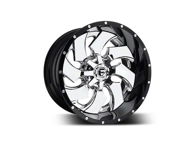 Fuel Wheels Cleaver Chrome w/ Gloss Black Lip 5-Lug Wheel - 22x12 (02-18 RAM 1500, Excluding Mega Cab)