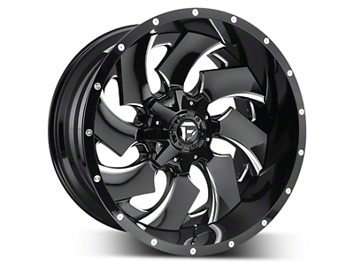 Fuel Wheels Cleaver Black Milled 5-Lug Wheel - 22x10 (02-18 RAM 1500, Excluding Mega Cab)