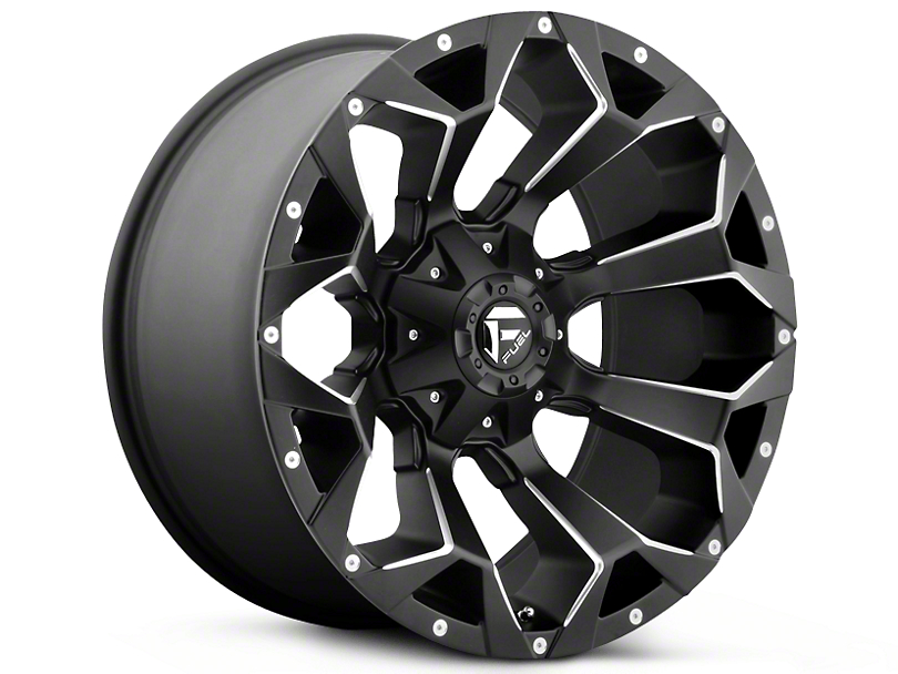 Fuel Wheels Assault Black Milled 5-Lug Wheel - 22x10 -19mm Offset (02-18 RAM 1500, Excluding Mega Cab)