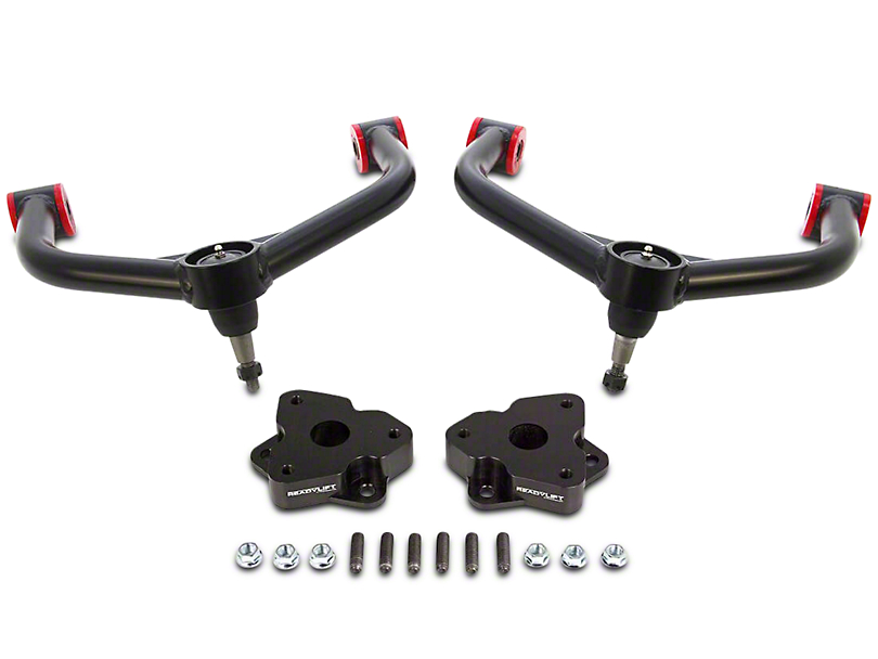 ReadyLIFT 2 in. Leveling Kit w/ Upper Control Arms - Anodized Black (06-18 4WD RAM 1500 w/o Air Ride Suspension)