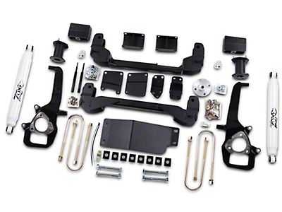Zone Offroad 4 in. Suspension Lift Kit w/ Shocks (06-08 4WD RAM 1500)