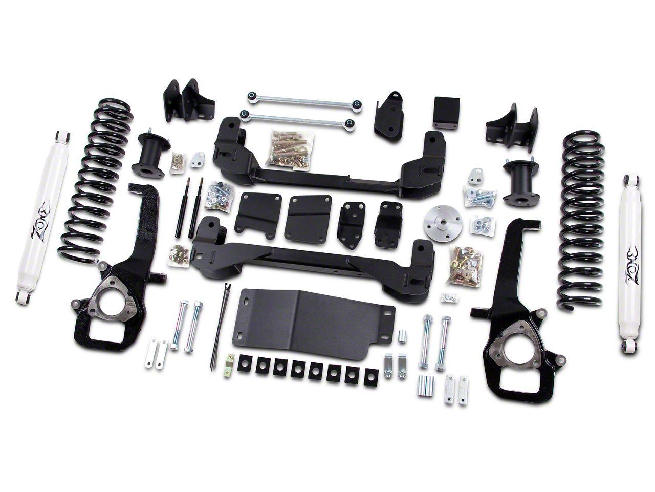 Zone Offroad 6 in. Suspension Lift Kit w/ 5 in. Rear Springs & Nitro Shocks (13-18 4WD w/o Air Ride Suspension)