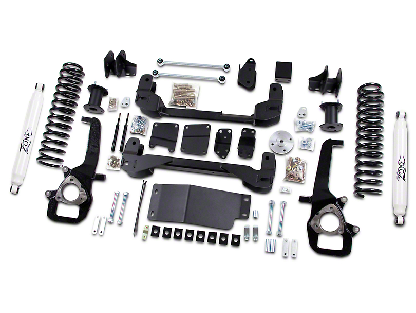 Zone Offroad 6 in. Suspension Lift Kit w/ Shocks (13-18 4WD RAM 1500 w/o Air Ride Suspension)